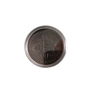 bitcoin dark bronze münze