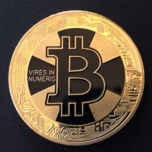 "Sammelmünze ""Bitcoin Black/Gold Spezialmünze 2018"""
