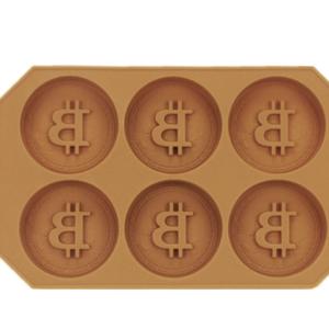 Bitcoin Eiswürfel und Cookie / Kuchen Form aus Silikon|BTC Logo Ice Cubes Krypto Sommer