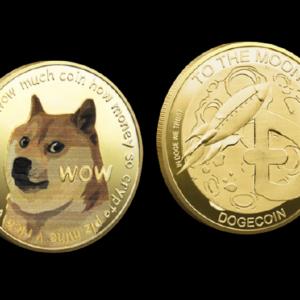 "Sammelmünze ""Dogecoin (DOGE)"" gold"