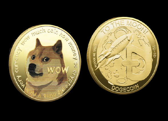 dogecoin doge münze gold