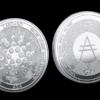 cardano ada coin silber