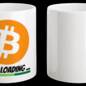 "Tasse ""Bitcoin 100k Loading"" weiss 325 ml"