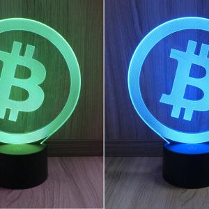 Bitcoin, Multicolor LED Lampe