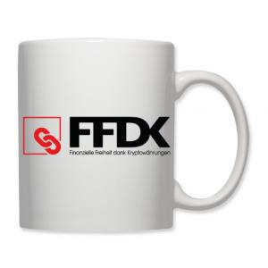 """Tasse """"FFDK-SUPPORTER"""" weiss 325 ml"""