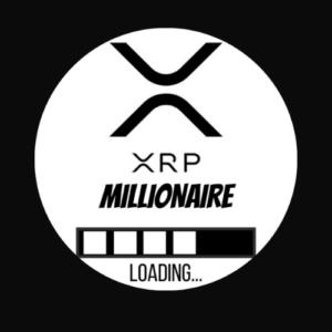 "Aufkleber ""XRP MILLIONAIR LOADING""  #Limited Edition 6cm Ø rund"