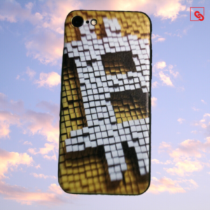 "Iphone 7 & 8 ""Bitcoin Pixeled"" Silikon Case Handyhülle Cover"
