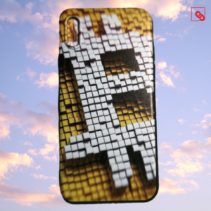 """Iphone X """"Bitcoin Pixeled"""" Silikon Case Handyhülle Cover"""