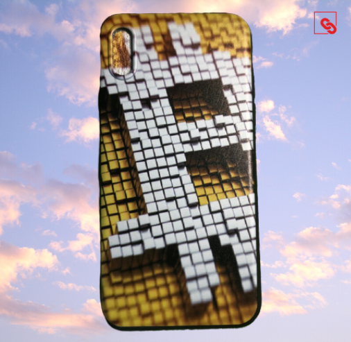 "Iphone X ""Bitcoin Pixeled"" Silikon Case Handyhülle Cover"
