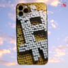 "Iphone 11 Pro Max ""Bitcoin Pixeled"" Silikon Case Handyhülle Cover"