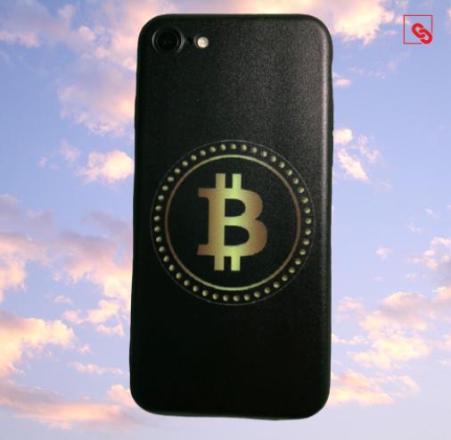 "Iphone 7 & 8 ""Bitcoin Gold Black"" Silikon Case Handyhülle Cover"