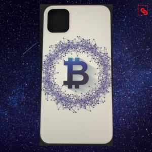 Iphone Case Bitcoin White Blue