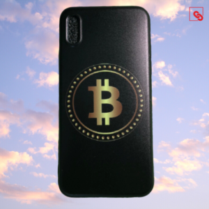 "Iphone X ""Bitcoin Gold Black"" Silikon Case Handyhülle Cover"
