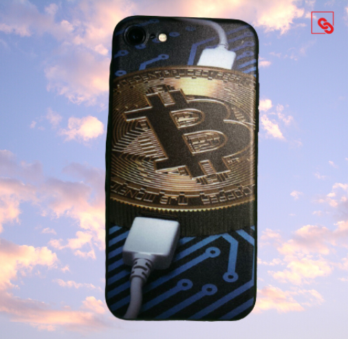 """Iphone 7 & 8 """"Bitcoin Charge"""" Silikon Case Handyhülle Cover"""