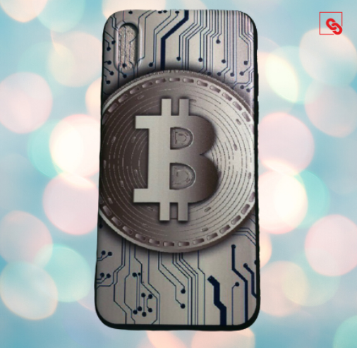 "Iphone X ""Bitcoin Big Chip"" Silikon Case Handyhülle Cover"