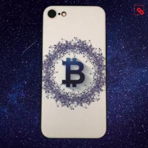 Bitcoin White Blue Case 7 und 8