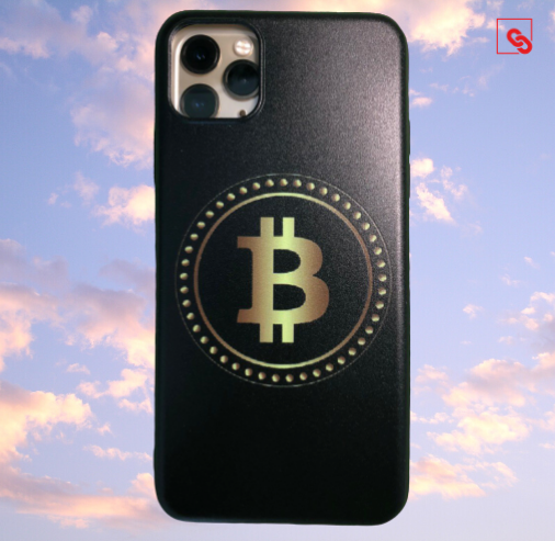 "Iphone 11 Pro Max ""Bitcoin Gold Black"" Silikon Case Handyhülle Cover"