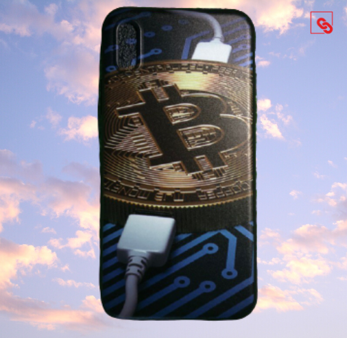 "Iphone X ""Bitcoin Charge"" Silikon Case Handyhülle Cover"