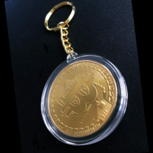 """Schlüsselanhänger """"Bitcoin gold"""""""