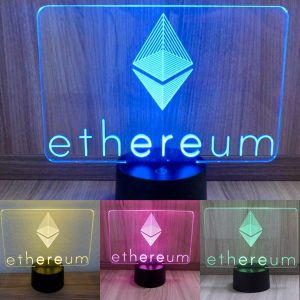 Ethereum, Multicolor LED Lampe