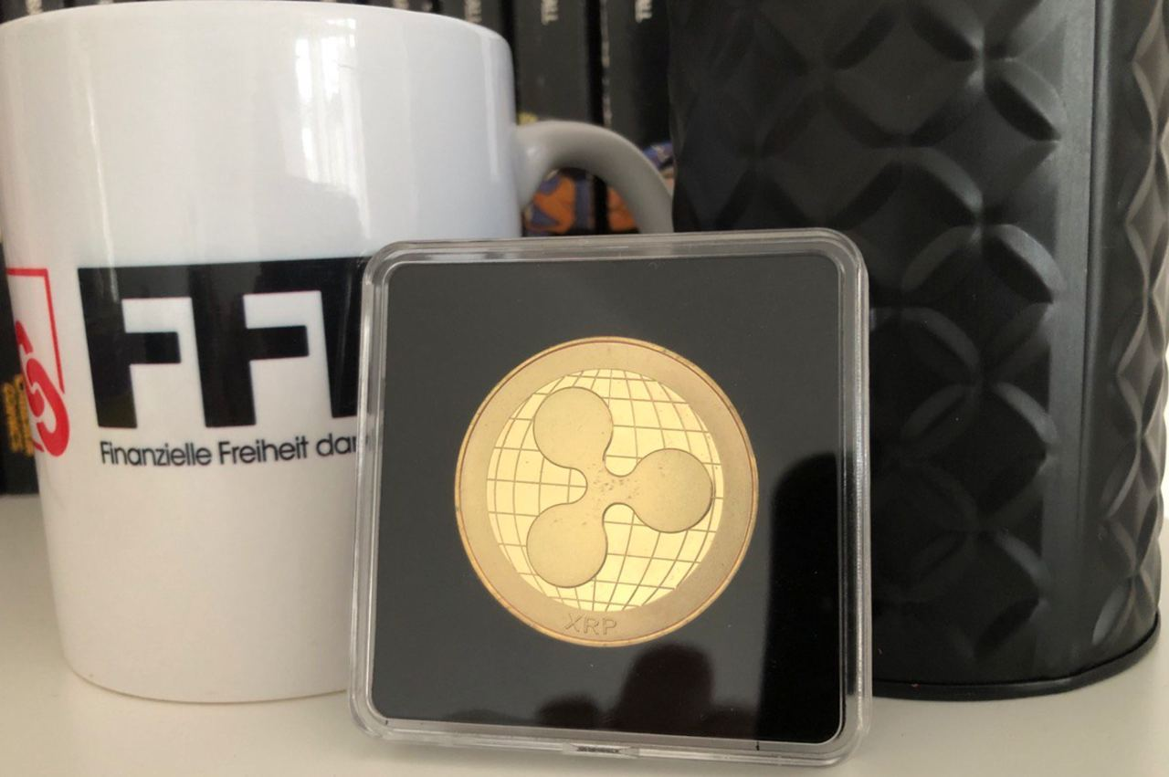ripple coin back gold