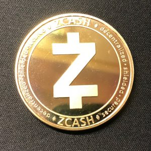 "Sammelmünze ""ZCASH"" gold"