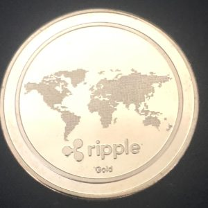"Sammelmünze ""Ripple (XRP)"" gold"