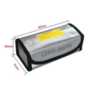 Feuerfeste Ledger Nano & Hardware Wallet Tasche 7,5 x 6 x 18,5 cm silber