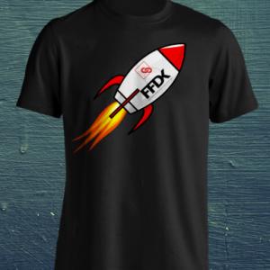 """T-Shirt """"FFDK ROCKET"""" Schwarz"""