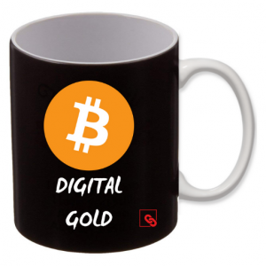"Tasse ""DIGITAL GOLD"" schwarz 325 ml"