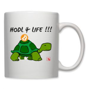"""Tasse """"HODL 4 LIFE"""" weiß 325 ml"""