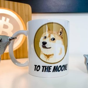 doge coin tasse to the moon