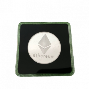 Ethereum Sammelmünze Silber in Acryl-Etui 40mm