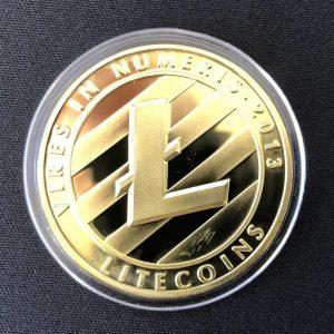 "Sammelmünze ""Litecoin gold"""