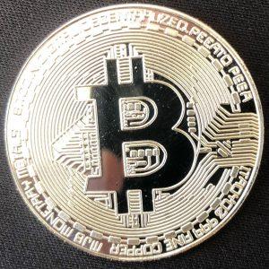 """Sammelmünze """"Bitcoin silber"""""""